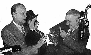 W. C. Fields - Edgar Bergen and his dummy Charlie McCarthy with W.C. Fields on The Chase and Sanborn Hour