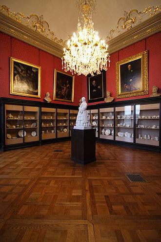 Chantilly porcelain - The Salon des porcelaines, Château de Chantilly.
