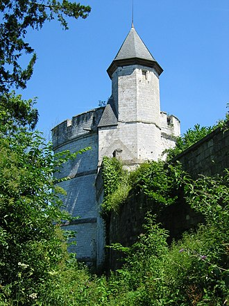 John Grey, 1st Earl of Tankerville - The 12th century Chateau de Tancarville, Normandy. In 1419 John Grey was granted the comté of Tancarville