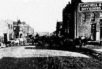 Checotah, Oklahoma - A street scene in Checotah around 1900