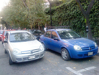 Automotive industry in Mexico - A couple of Chevy sedans in Mexico City