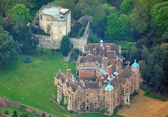 Chilham Castle - Aerial view of the castle