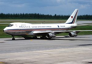 China Airlines Flight 358 - B-198, the aircraft involved in the accident, at Changi Airport in 1985.