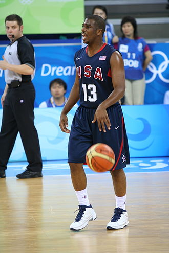 Wake Forest Demon Deacons men's basketball - Chris Paul with Team USA in 2008