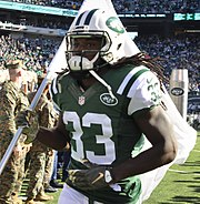 Running back Chris Ivory wearing the current Jets uniform ee7641ce2