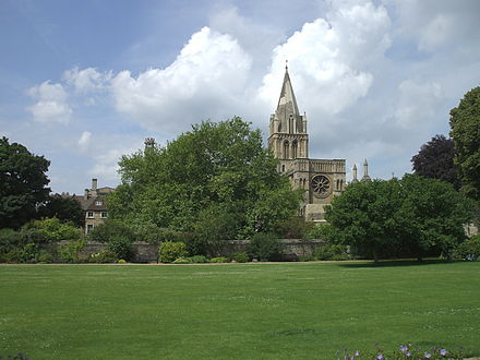 Christ Church Cathedral from the east across Christ Church Meadow Christ Church Cathedral from across the Meadow.jpg