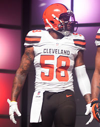 Christian Kirksey Cleveland Browns New Uniform Unveiling (17153806041).jpg