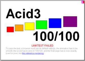 Google Chrome Browser Build 3989 Acid 3 Test R...