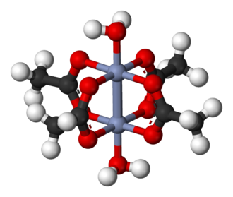 Chromium(II) acetate - Image: Chromium(II) acetate dimer 3D balls