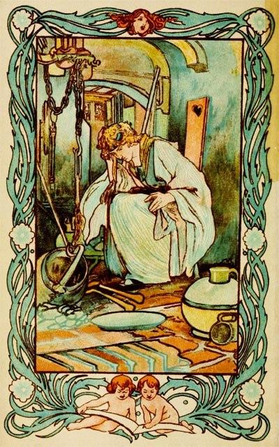 Cindarella illustration by Charles Robinson 1900