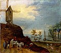 Circle of Jan Brueghel-River Landscape with a windmill.jpg