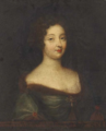 Circle of Mignard - Portrait of Anna de Rohan in a jewelled dress.png