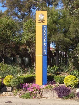 City of Rockdale - City of Rockdale signpost, Stoney Creek Road, Kingsgrove
