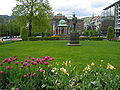 City park with Edvard Grieg Monument in Begen Norway 20050516.JPG