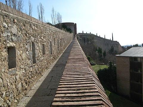 City walls in Girona Spain