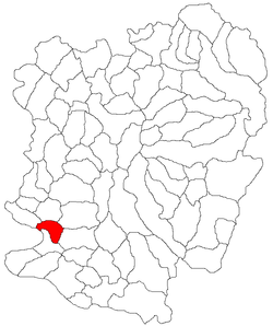 Location in Caraș-Severin County