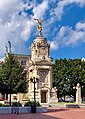 Civil War Monument New Britain and Flag.jpg