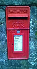 red King George VI wall box