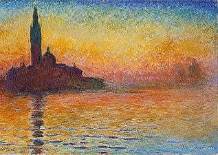 Claude Monet, figure emblématique de l'impressionnisme dans FONDATEURS - PATRIMOINE 318px-Claude_Monet%2C_Saint-Georges_majeur_au_cr%C3%A9puscule