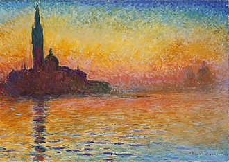 The Thomas Crown Affair (1999 film) - The painting stolen in the film. San Giorgio Maggiore at Dusk, Claude Monet, 1908