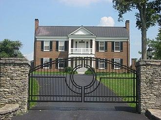Taylor County, Kentucky - Image: Clay Hill near Campbellsville, entrance closeup