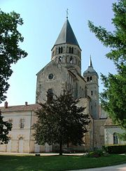 The Romanesque Abbey Church at Cluny (the remaining transept shown) provided a model for many monastic precincts and had a lasting influence on Gothic architecture