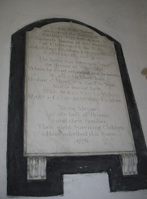 John Clubbe - Memorial plaque to the Clubbe family at St Margaret's Church, Whatfield, Suffolk