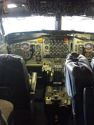 VC-137C SAM 26000 - The cockpit of the aircraft