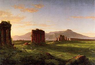 Aqueduct near Rome - Cole, Roman Campagna, 1843, Wadsworth Atheneum