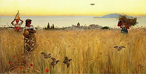 Charles Caryl Coleman - Image: Coleman Women in the Wheat Fields, Anacapri (1887)