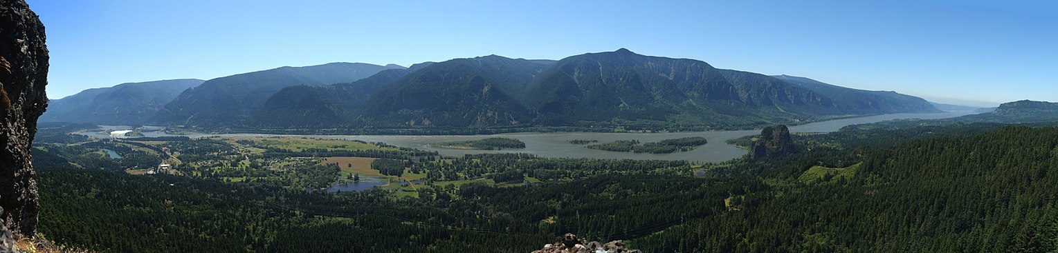 A View Of The Columbia River Gorge