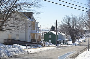 Chest Springs, Pennsylvania - Houses on Columbia Street
