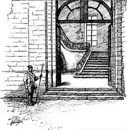 An illustration of the Committee's guarded doorway