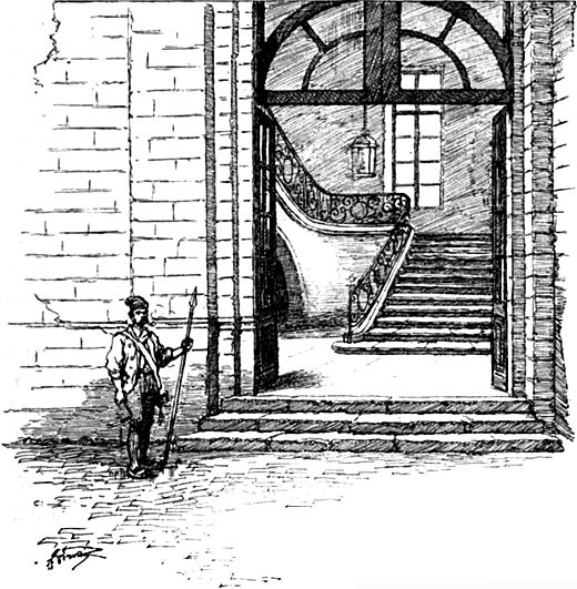 Entrance to the Committee of Public Safety. Saint-Just became a member of the Committee on 30 May 1793. CommitteePublicSafetyEntrance.jpg