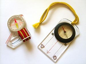 Orienteering - Thumb compass and protractor compass