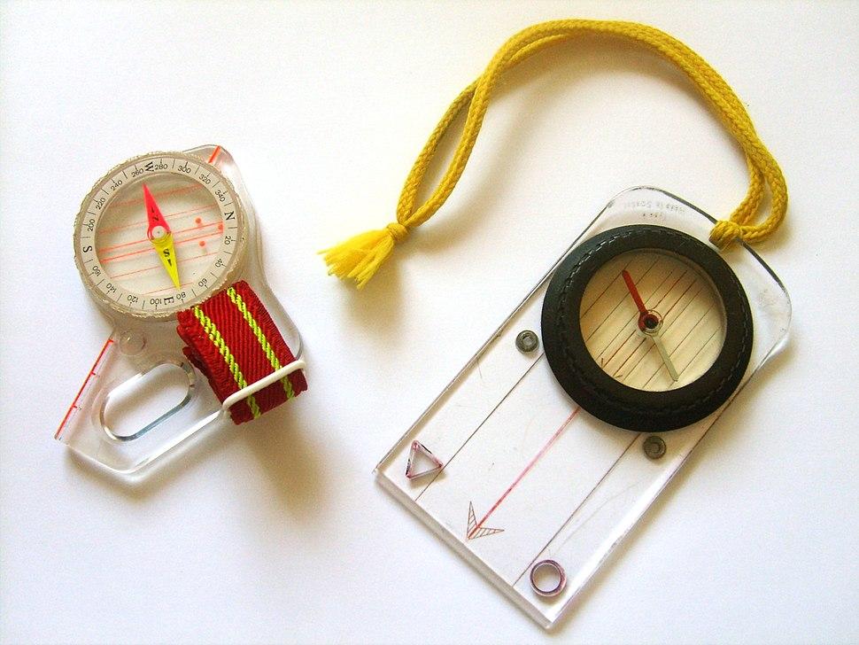 Compasses orienteering