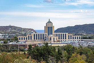 Confederation Building (Newfoundland and Labrador) - A rear facing view of The Confederation Building, in St. John's Newfoundland.
