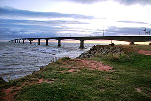 Confederation Bridge - The bridge viewed from Prince Edward Island
