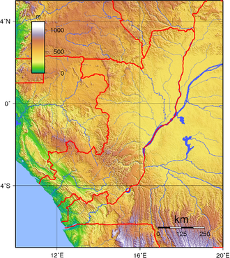 Geography of the Republic of the Congo - Topography of the Republic of the Congo.