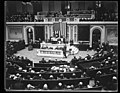 Congress attests election result. At a joint session of the House and Senate the resul (...) ber election received the final attest of Congress today, (...)ary, 11th. The photo shows, LCCN2016894071.jpg