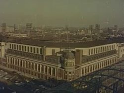 Shibe Park in Philadelphia's Swampoodle Neighborhood, is now a part of Allegheny West, circa 1955.