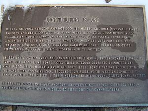 Constitution Island - Historical marker across the river at West Point