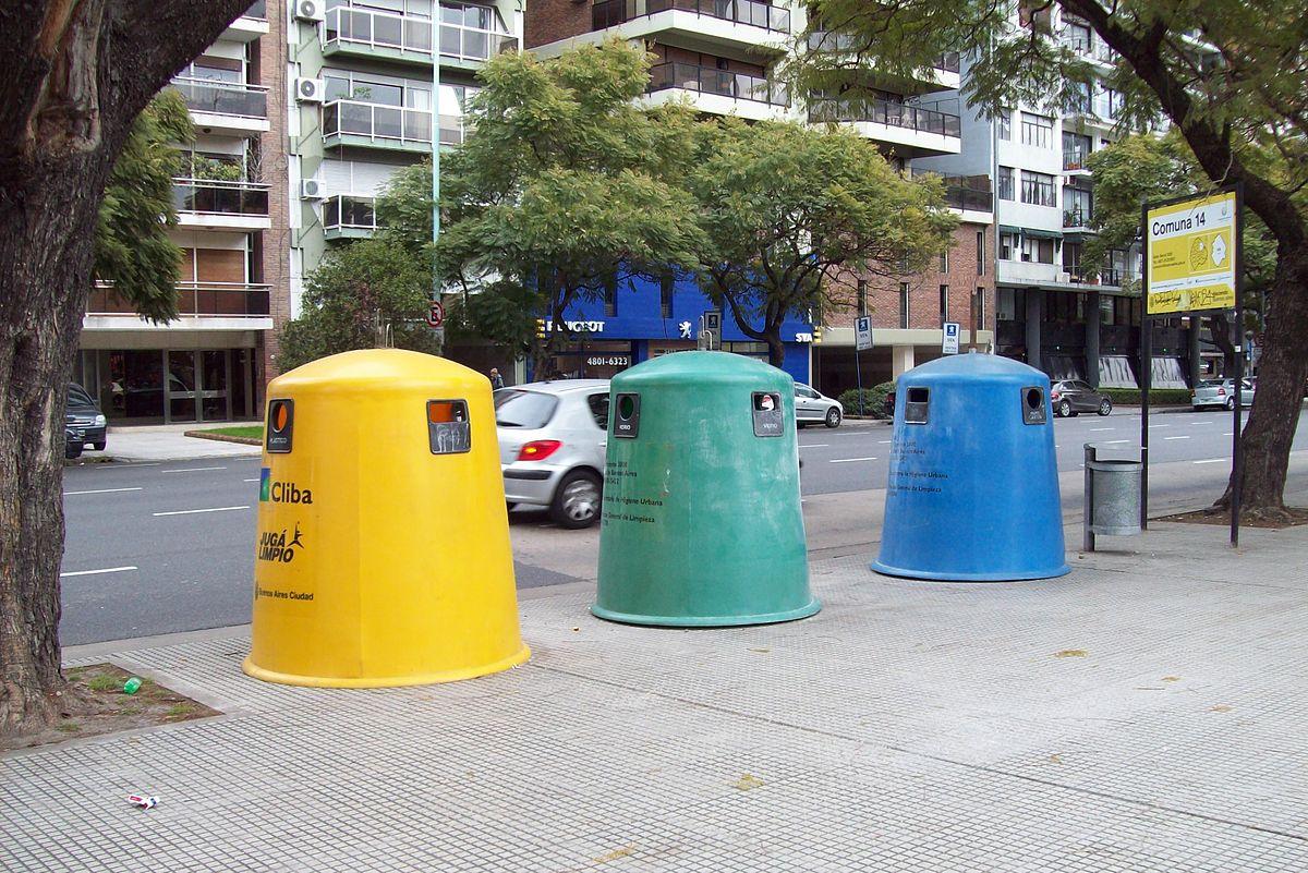 Reciclaje wikipedia la enciclopedia libre - Contenedores de basura para reciclaje ...