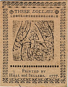 Continental Currency $3 banknote reverse (May 20, 1777).jpg