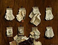Cornelis Brize - documents on wall - Thesaurie der Stad Amsterdam 1656.jpg