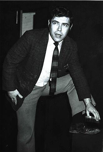 Corner Theatre ETC - Actor Mort Lubitz onstage at Corner Theatre ETC in 1971.