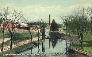 Crompton (West Warwick) - Cotton mill and village in 1917
