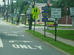 County Route 514 (New Jersey) - County Route 529's southern terminus viewed from County Route 514 westbound
