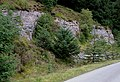 Craggy side to the road near Llyn Brianne, Powys - geograph.org.uk - 1527165.jpg