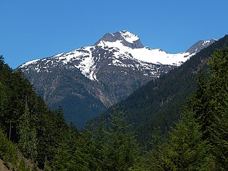 Crater Mountain - Crater Mountain seen from North Cascades Highway